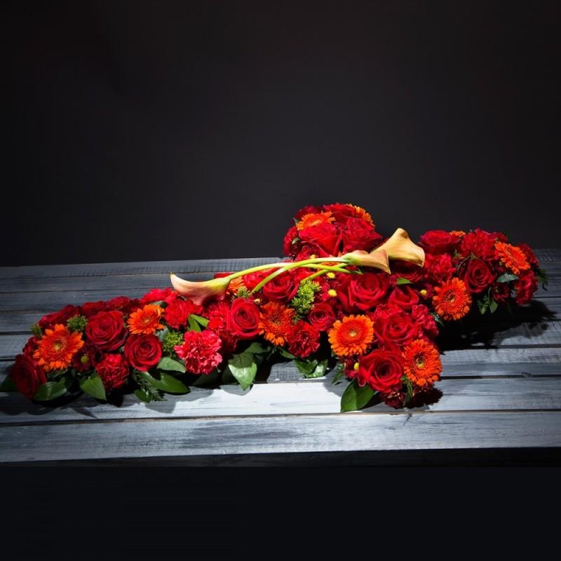 Creu de flors funerària