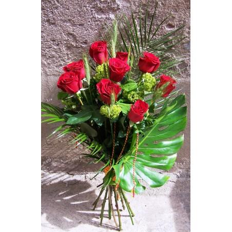 18 Rosas de Sant Jordi tallo extra en ramo