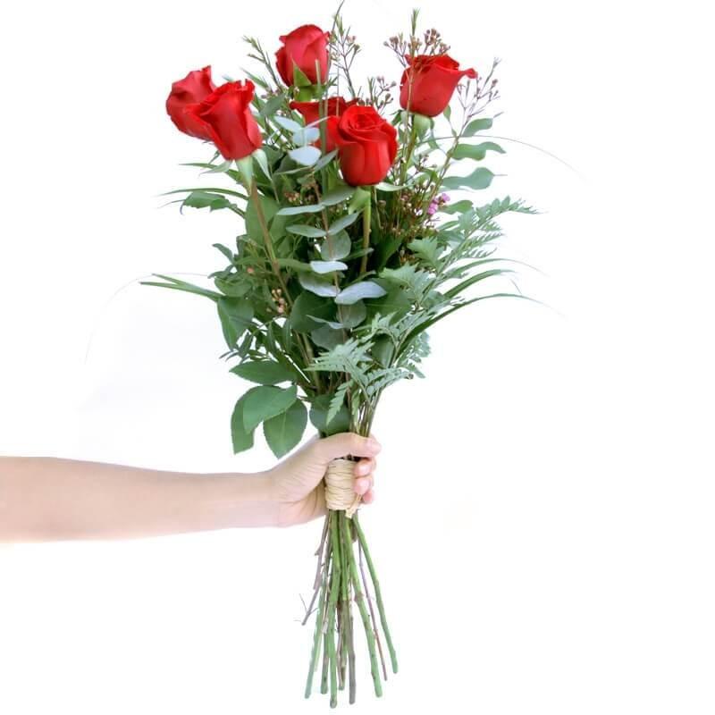 Ram de 6 Roses Vermelles