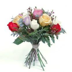 Bouquet de Rosas Multicolor San Valentín