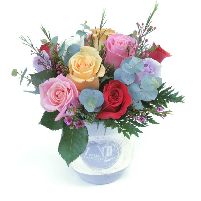 Rosas Multicolor en cerámica