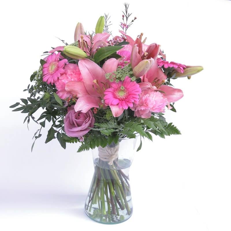 """Flores en jarrón """"La vie en rose"""""""