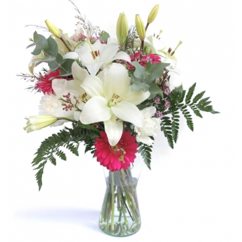 """Flores en jarrón  """"Sin palabras"""""""