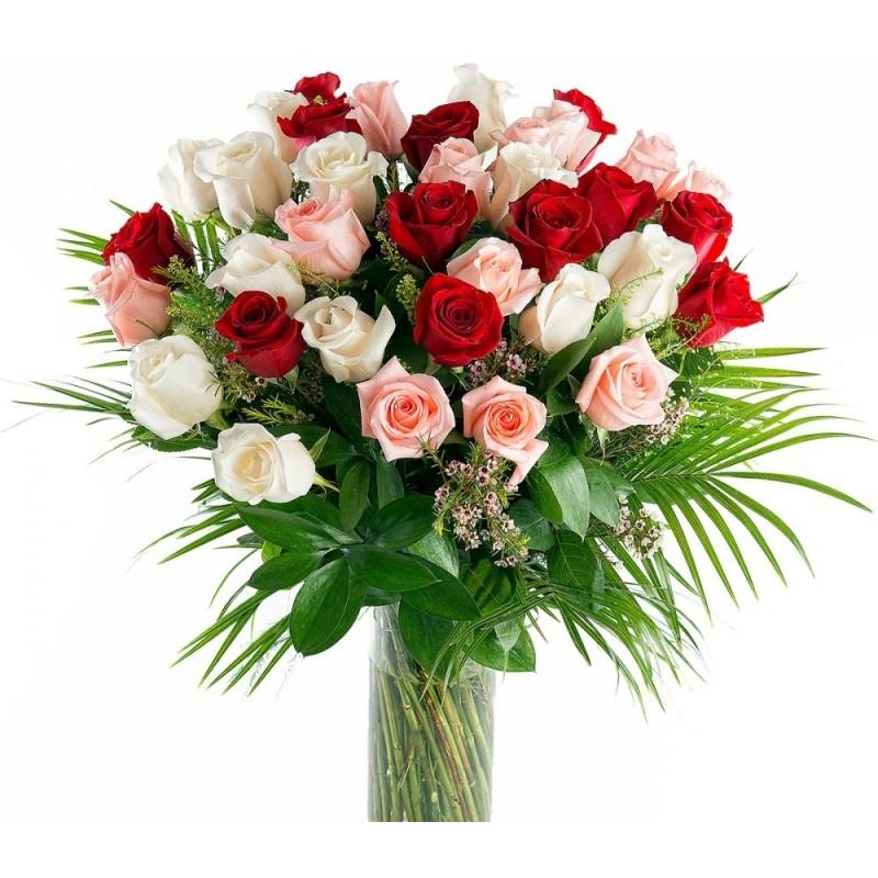 Ramo de 35 Rosas Multicolor