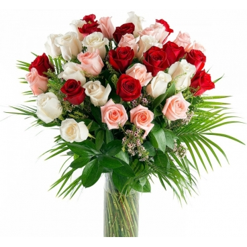 Ram de 36 Roses Multicolor