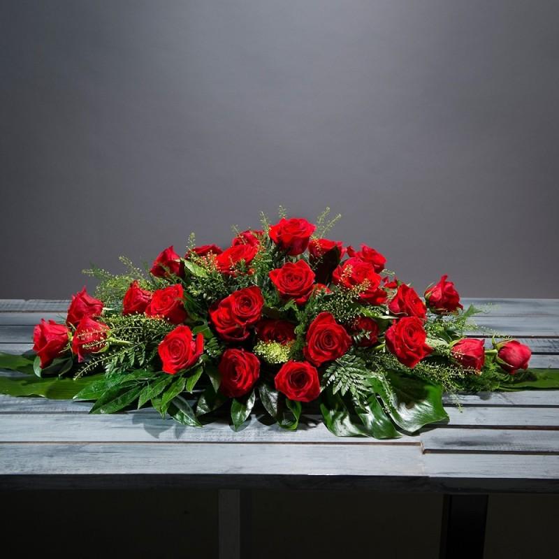 Almohadón rosas rojas