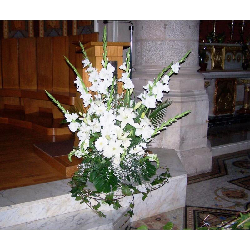 Centre clàssic alt de flors església